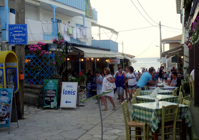 Tavernas Agios Nikitas Village in Lefkada Island, Greece
