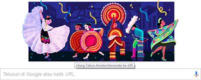 Amalia Hernández dalam Google Doodle