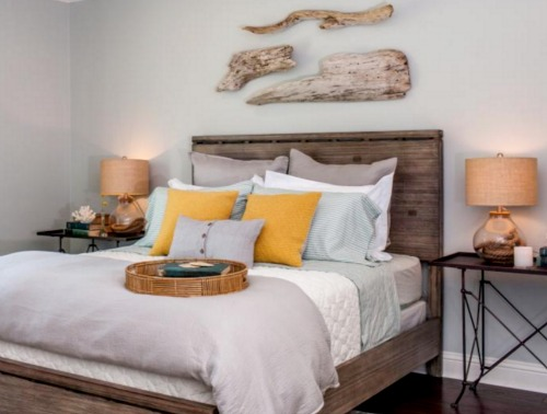 Coastal home makeover for a ranch house by chip and joanna for Joanna gaines bedroom designs