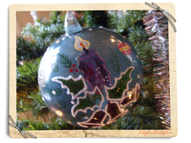 hand painted ornament, christmas