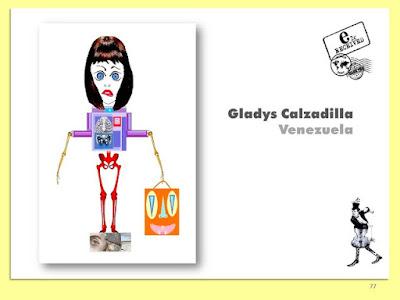 Gladys Calzadilla, Loca por las Compras, Collage Digital, Arte Postal, Espacio 2C, Exposición Colectiva #CadaverExquisito #MailArt en #sanmigueldearbona #BacosSanMiguel Tenerife