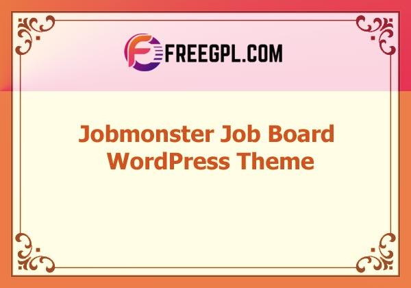 Jobmonster - Job Board WordPress Theme Nulled Download Free