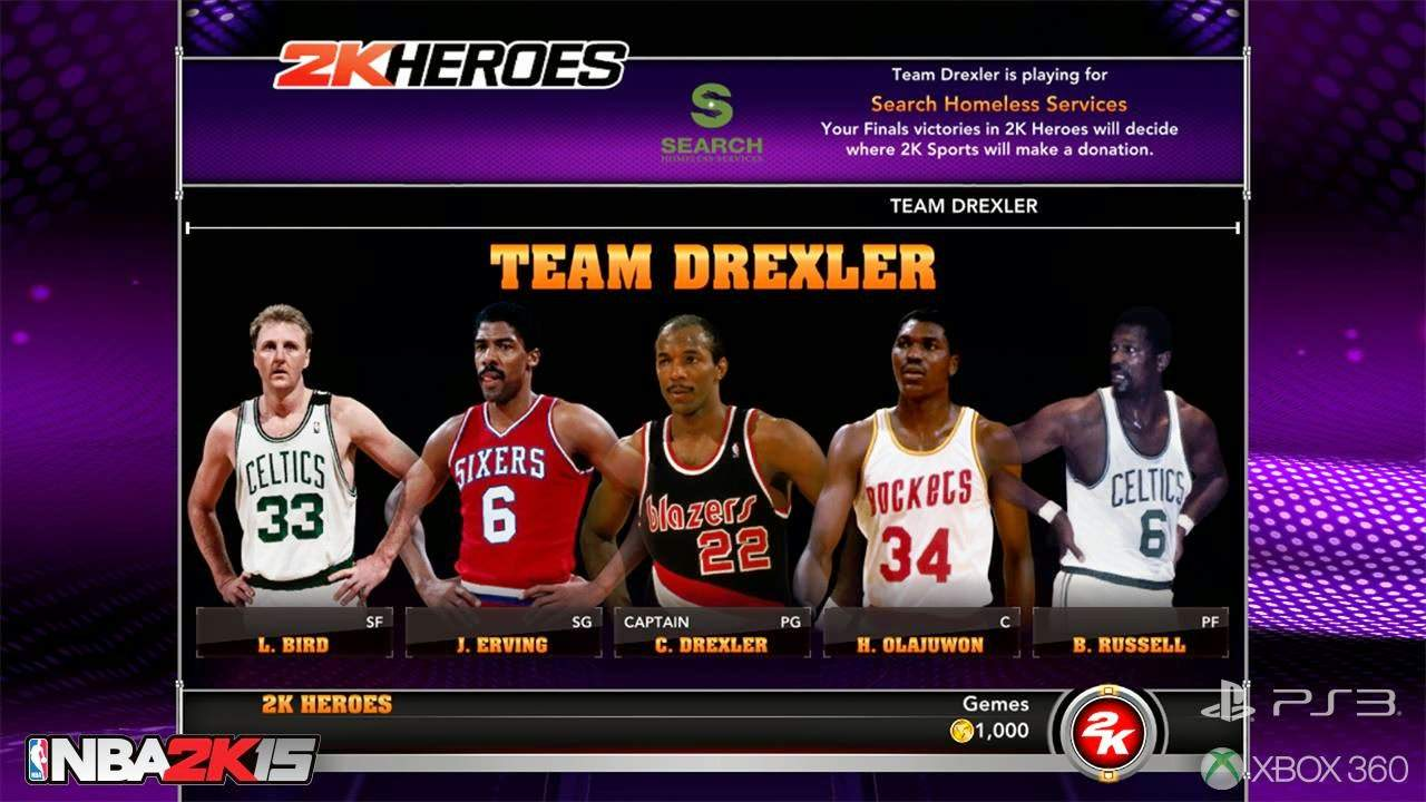 NBA 2k15 2k Heroes Mode : Team Drexler