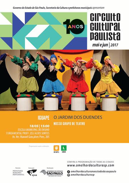 Circuito Cultural Paulista 2017 em Iguape  - O Jardim dos Duendes