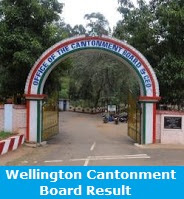 Wellington Cantonment Board Result