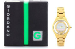Giordano 60093-22 Women Watch 2 Year Warranty For Rs 1909 (Mrp 6450) Flipkart
