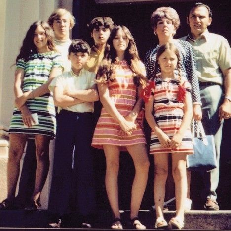 Madonna And Her Family 1970 Vintage Everyday