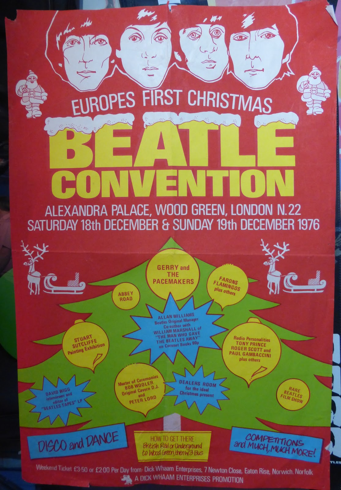 Also In This Years Auction Is Poster For A Beatles Christmas Event London 1976