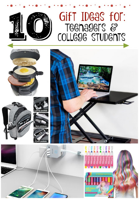 10 Holiday Gift Ideas for Teenagers & College Students...everything from chargers, to phone cases, to cold winter gear to food items....and more! (sweetandsavoryfood.com)