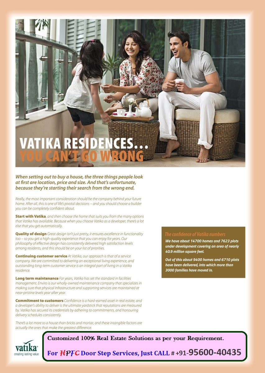 Vatika Residences Gurgaon