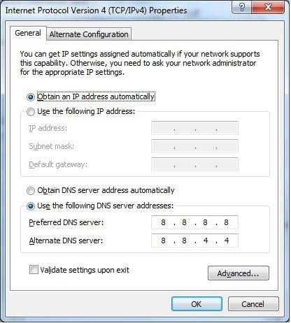google dns IPV6