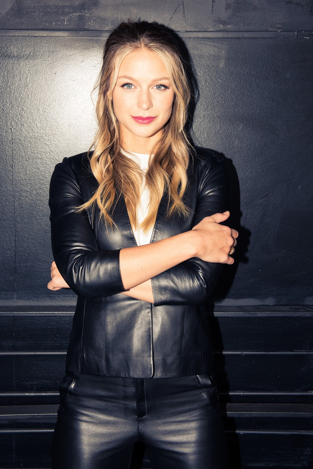 lovely ladies in leather melissa benoist in a leather suit