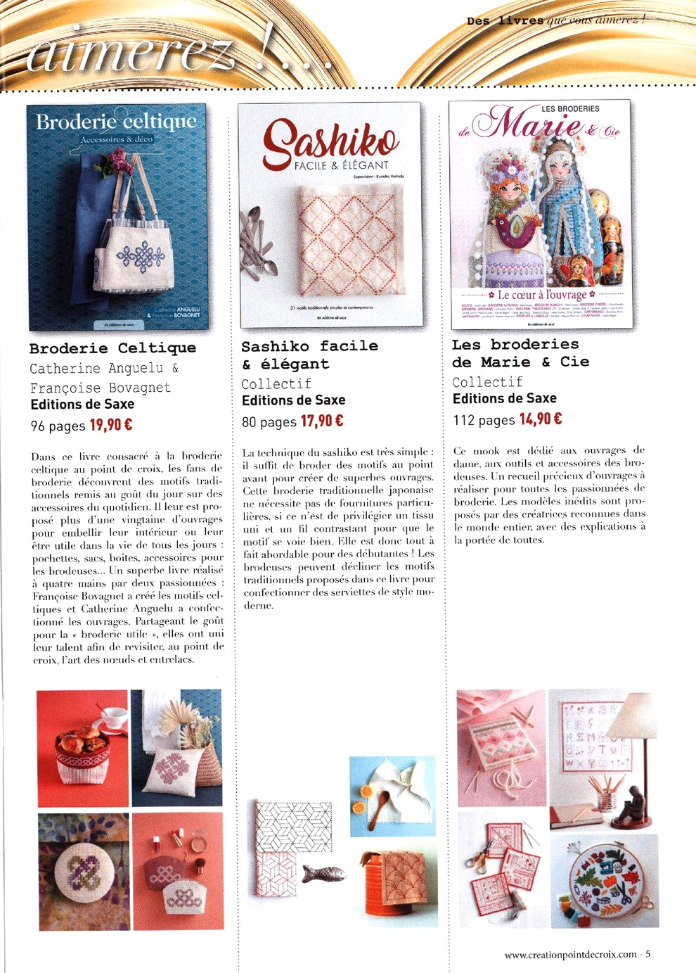 Журнал со схемами вышивки - Creation Point De Croix №78 2019 (5)