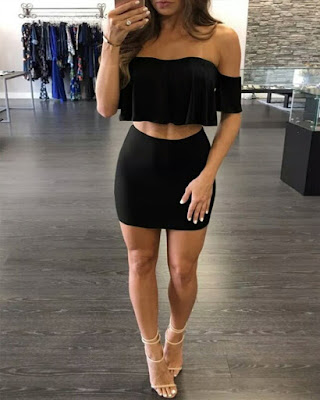 conjunto casual negro