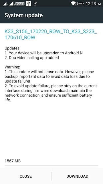 Lenovo K6 Power is now getting Android 7.0 Nougat Update in India