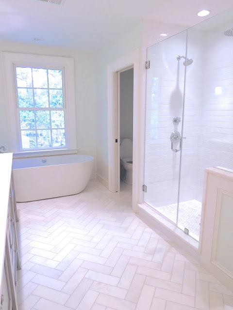 Glass shower half wall