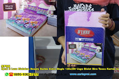 Sprei D Luxe Kintakun Beauty Barbie Extra Single 120×200 Ungu Biolet Biru Tosca Kartun Anak Remaja Micro Tex Disperse