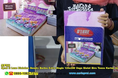 Sprei D Luxe Kintakun Beauty Barbie Extra Single 120x200 Ungu Biolet Biru Tosca Kartun Anak Remaja Micro Tex Disperse