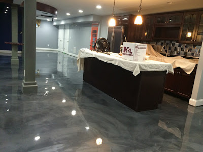 metallic epoxy flooring paint materials