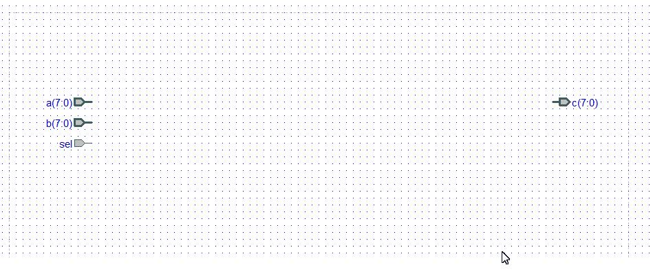 schematic sheet of a block