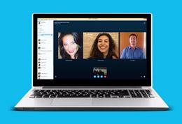 Imagem de conversa de grupo com Skype