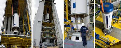 Visiter la station spatiale de Kourou en Guyane : Diaporama montage lanceur fusée Ariane à Kourou.