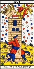 La Torre- Arcano XVI- Tarot de Marsella