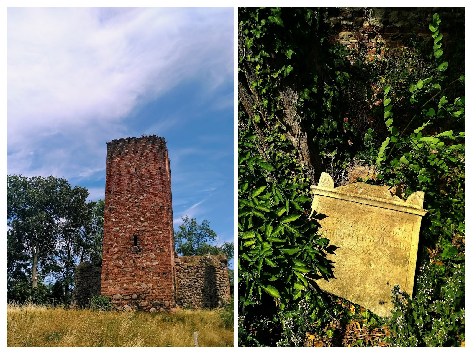 ruina kościoła w Wyszanowie