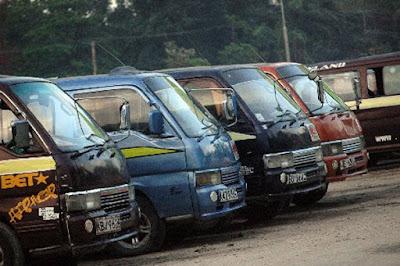 Matatus parked at engen petrol station in Malindi. PHOTO | The star