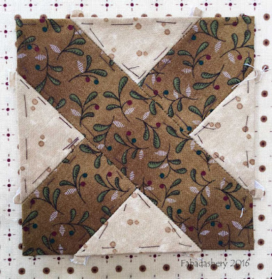 Dear Jane Quilt - Block J4 Adelaine's Apron Strings