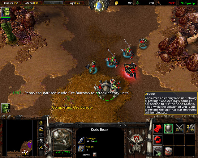 Cry of the Warsong Mission 22   Kodo Beast Screenshot   Warcraft 3: Reign of Chaos