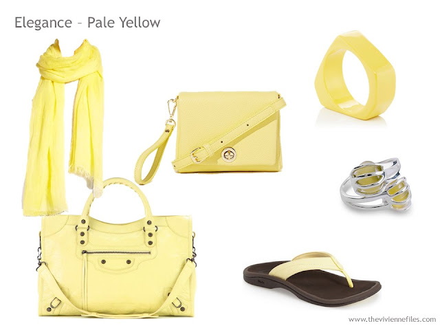 Adding Accessories to a Capsule Wardrobe in 13 color families - yellow