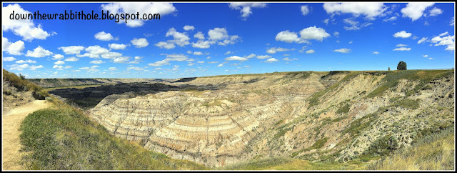 Panoramic view of Horse Thief Canyon in Drumheller