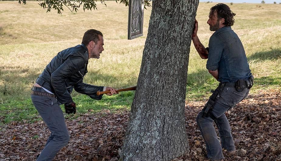 Rick y Negan, en la Season Finale de la temporada 8 de The Walking Dead