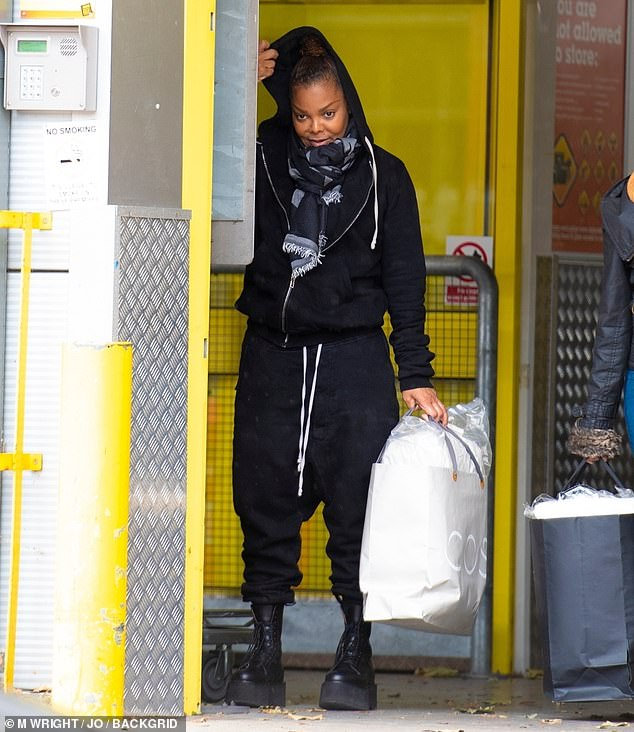 Janet Jackson, 52, spotted leaving a storage unit in London following split from third husband