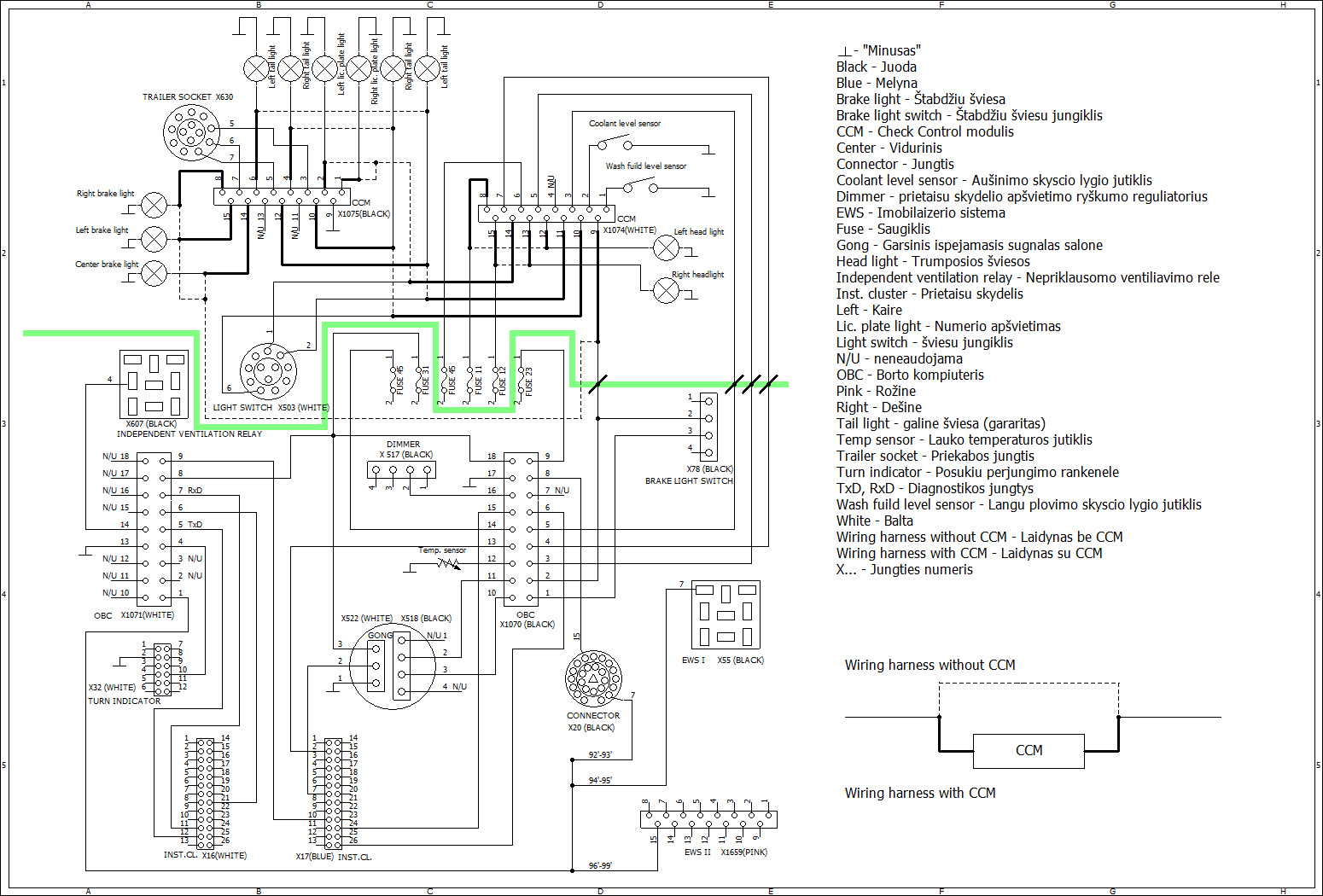 bmw e36 wiring diagram 6v to 12v conversion repair and retrofit obc check control en