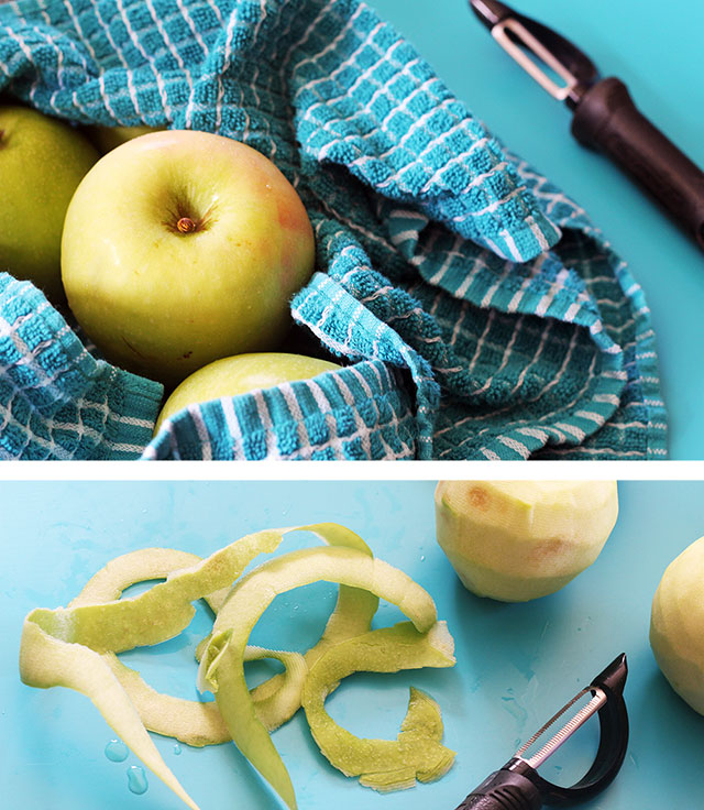 Happy apples make happy pies | Gingerbread apple pie recipe