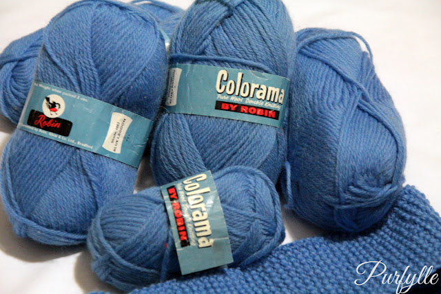 aBlue yarn - possibly vinatage