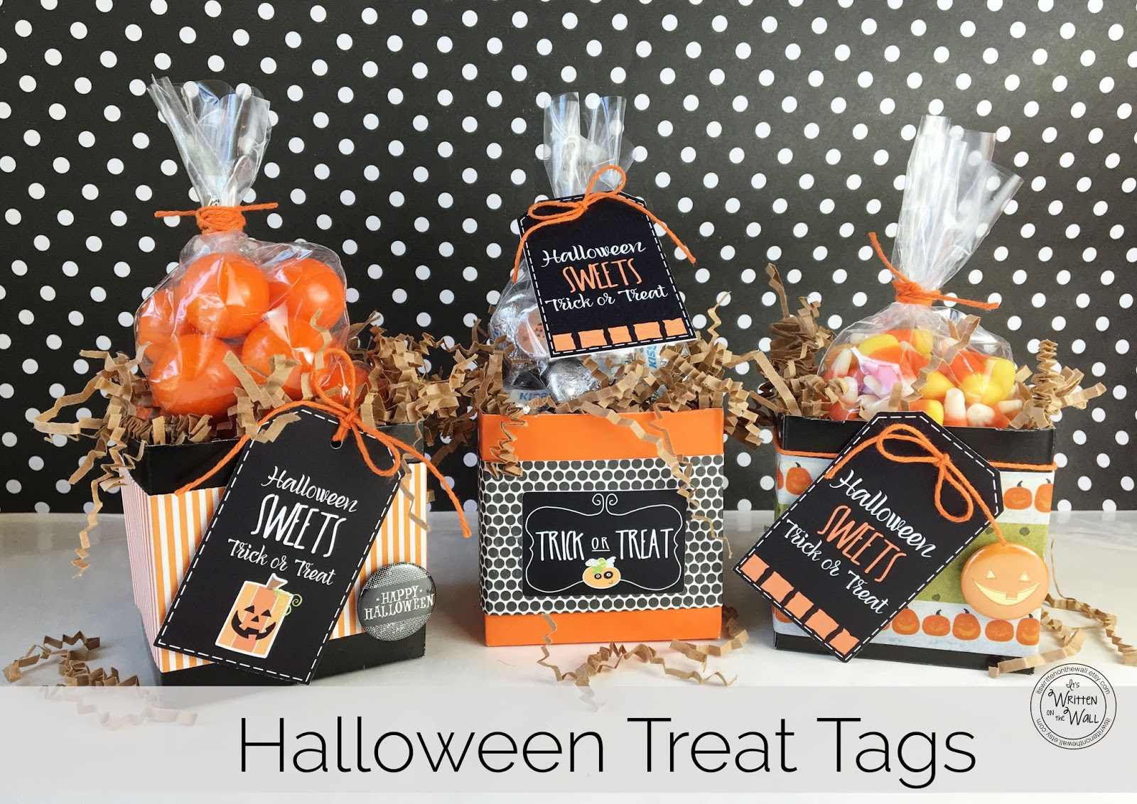 It's Written on the Wall: Sweet Treat Tags for Halloween-Party ...