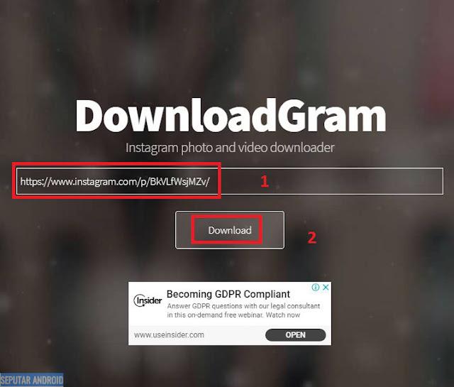 3 Cara Download Video Dari Instagram Paling Mudah diHp Android Dan PC/Laptop