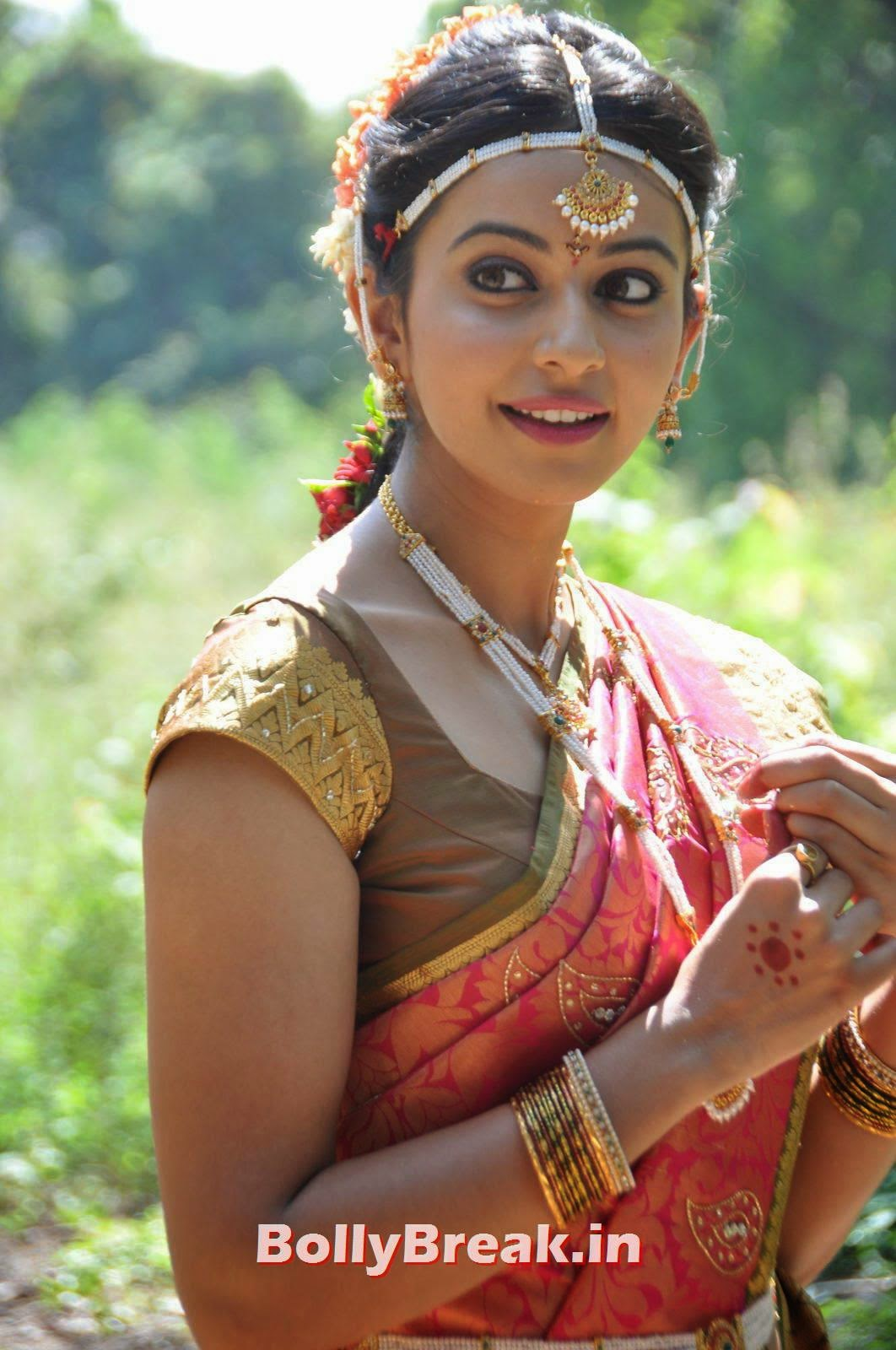 rakul preet singh traditional tamil saree photo gallery