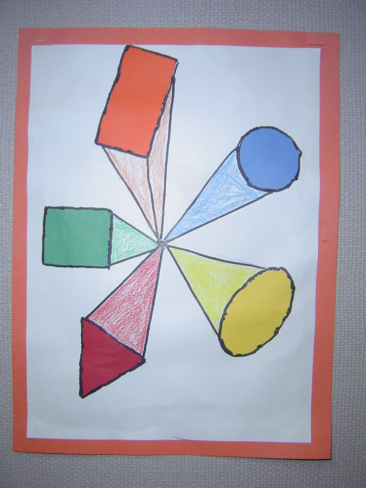 Mrs T S First Grade Class One Point Perspective Shapes