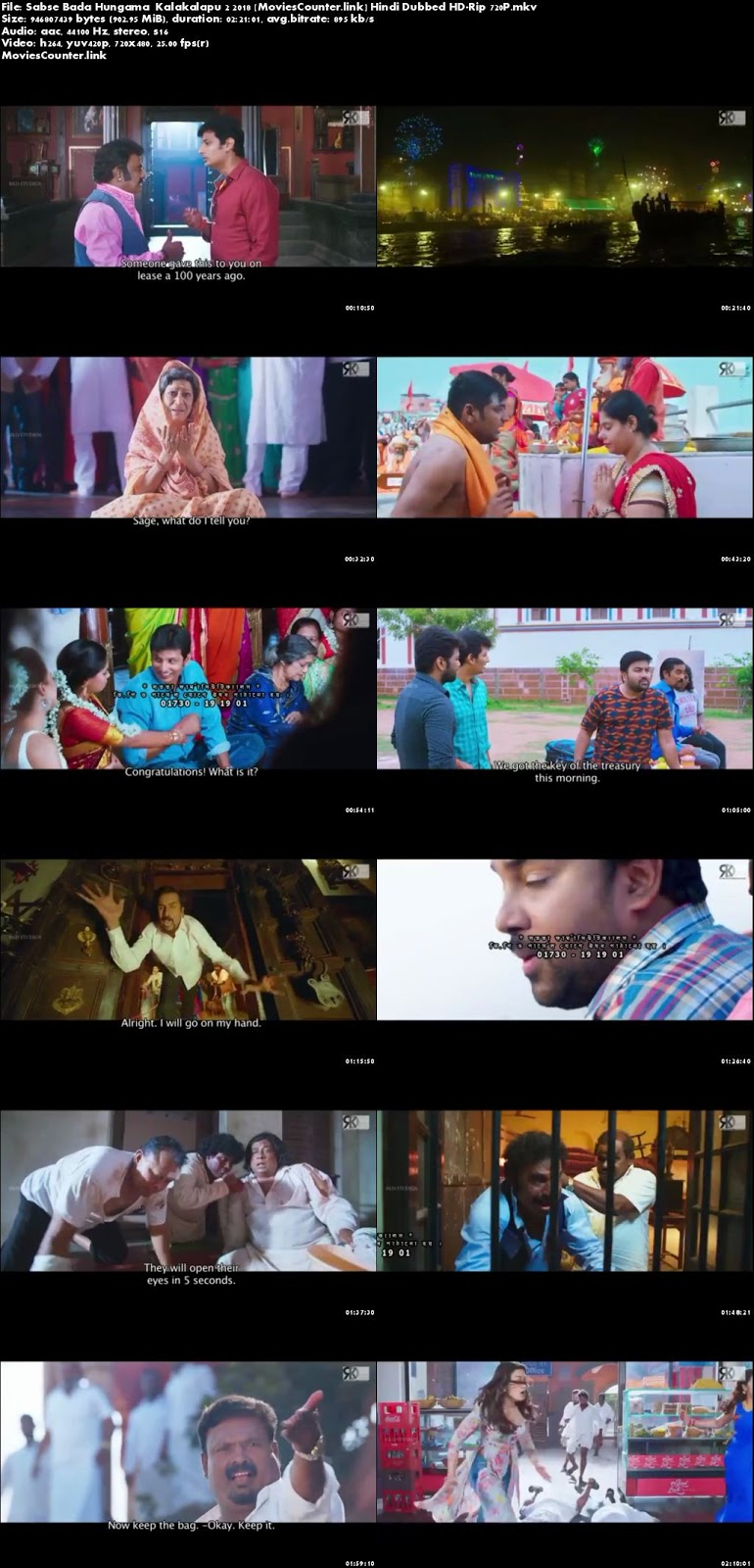 Screen shot Kalakalapu 2 2018 Hindi Dubbed HD 720p