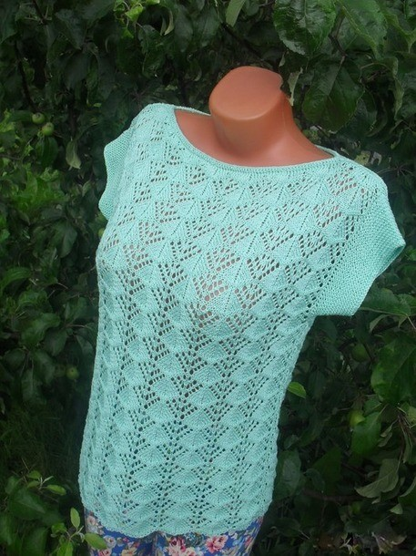 This Beautiful Yarn Crochet Blouse Made In Yarn See The Chart