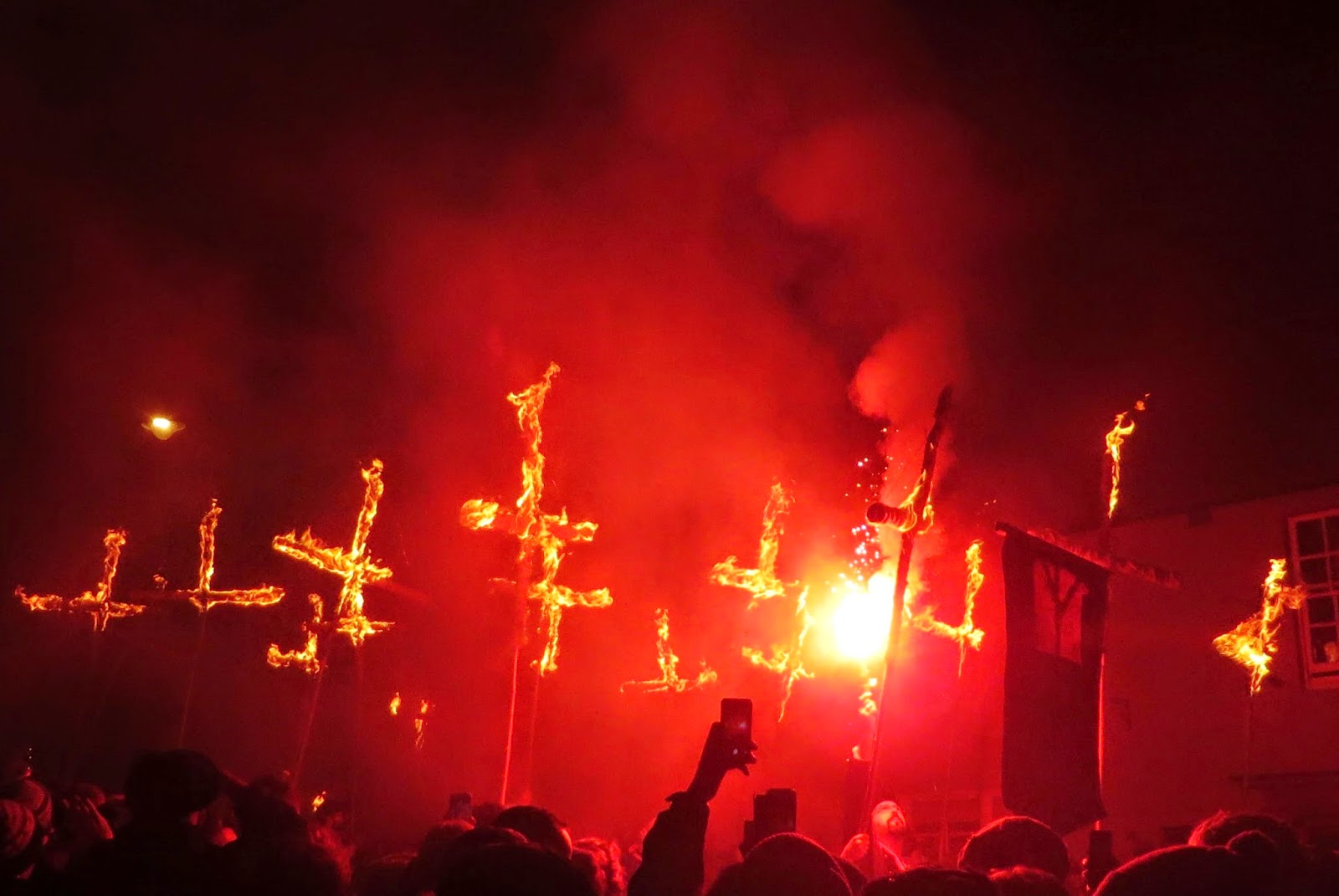 Lewes bonfire night, lewes bonfire procession, the fifth, 5th november, Guy Fawkes night, fire, torches, Lewes, Sussex, flaming torch, must do, Lewes burning crosses,