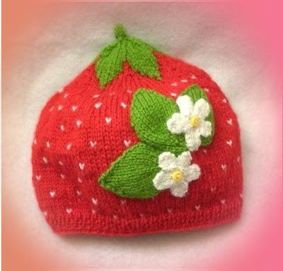 bonnet fraise fille