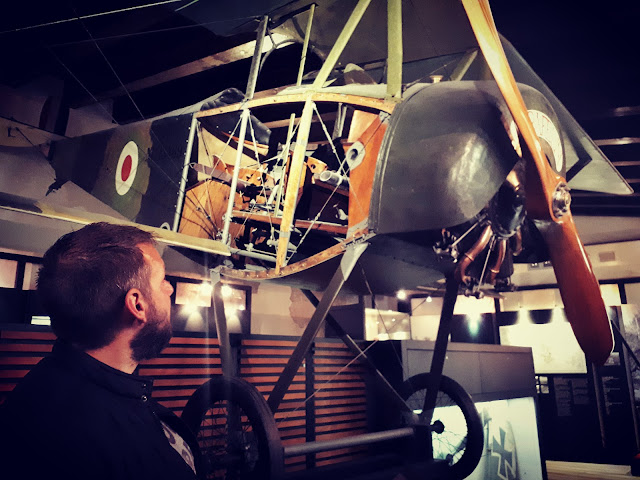 Plane at the War museum in Rovereto Trentino