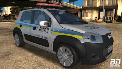 Download , mod, carro, Viatura, Fiat, Uno, Way, PMMG, GTA San Andreas, GTA SA, PC
