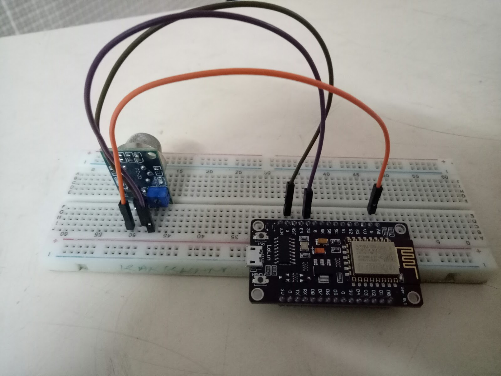 IoT - LPG Gas Sensor Logging with NodeMCU and Thingspeak
