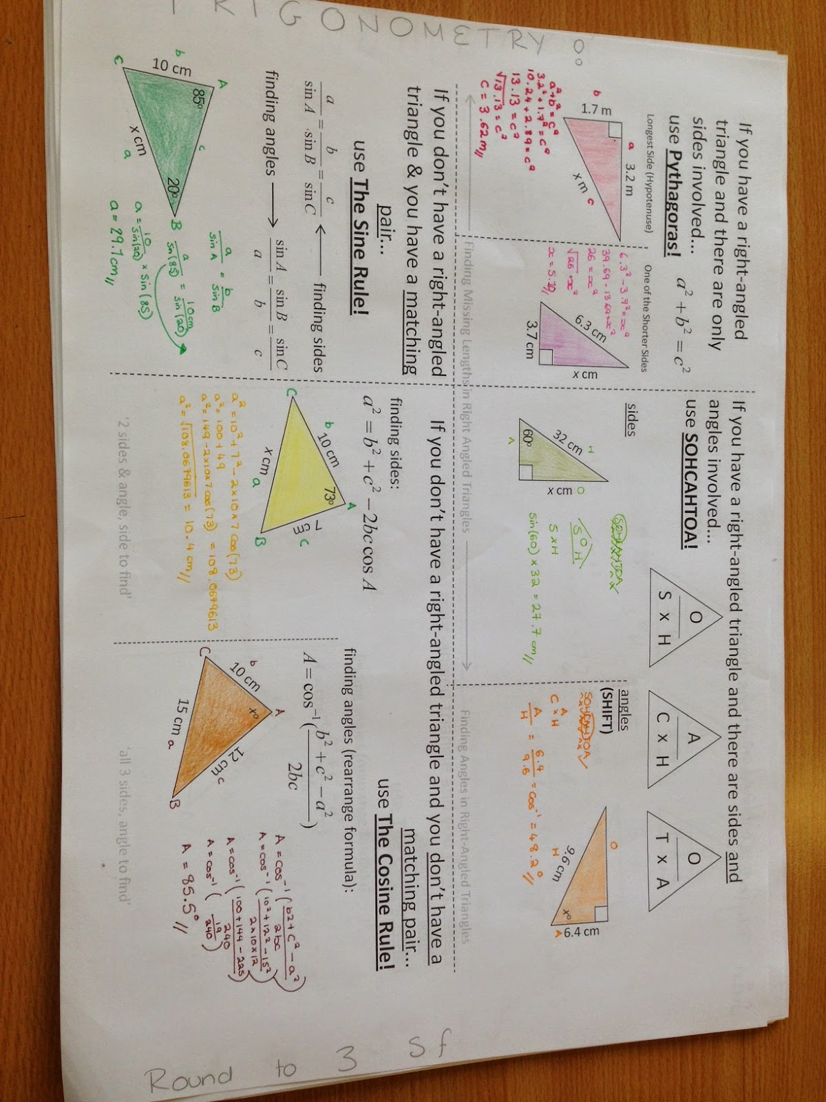 Mr Collins Mathematics Blog Gcse Trigonometry Revision